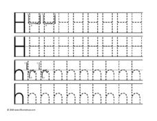 Uppercase and Lowercase Hh Worksheet