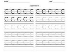 Uppercase C Worksheet