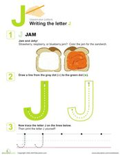 Uppercase J Worksheet