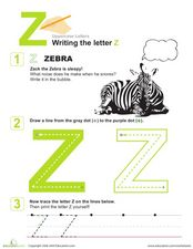 Uppercase Letter Z Worksheet