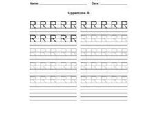 Uppercase R Worksheet