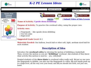 Upside-down Dribbling! Lesson Plan