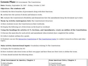 US Government: The Constitution Lesson Plan