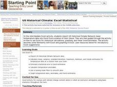 US Historical Climate: Excel Statistical Lesson Plan