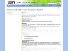 US & Iroquois Constitution Parallels Lesson Plan