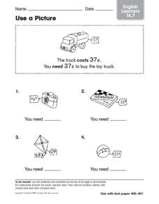 Use a Picture ELL Worksheet