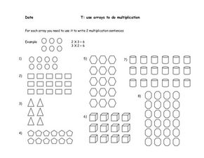 Use Arrays for Multiplication Worksheet