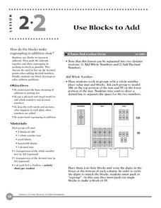 Use Blocks to Add Lesson Plan