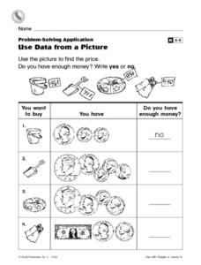 Use Data From a Picture Worksheet