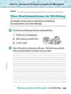 Use Exclamations in Writing Worksheet
