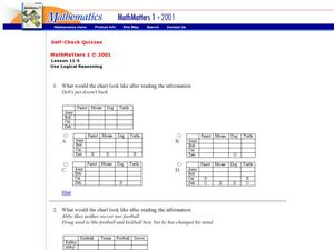 Use Logical Reasoning Worksheet