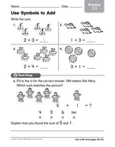 Use Symbols to Add: Practice Worksheet