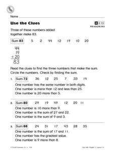 Use the Clues Worksheet