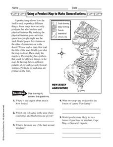 Printables Types Of Maps Worksheet using a product map to make generalizations 4th 5th grade worksheet