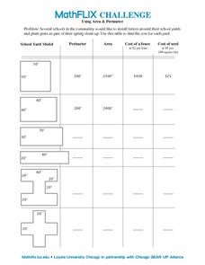 Using Area & Perimeter Worksheet
