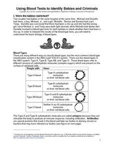 using blood tests to identify babies and criminals 9th 12th grade worksheet lesson planet. Black Bedroom Furniture Sets. Home Design Ideas