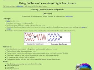 Using Bubbles to Learn about Light Interference Lesson Plan