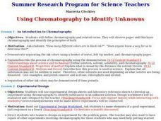 Using Chromatography to Identify Unknowns Lesson Plan