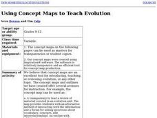 Using Concept Maps to Teach Evolution Lesson Plan