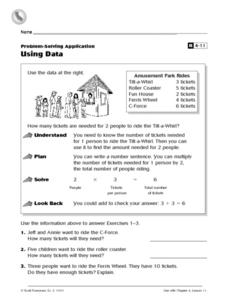 Using Data Worksheet