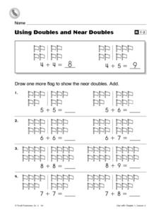 Using Doubles and Near Doubles- Reteaching Worksheet Worksheet