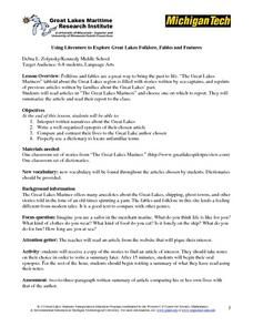 Using Literature to Explore Great Lakes Folklore, Fables and Features Lesson Plan