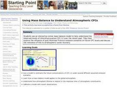 Using Mass Balance to Understand Atmospheric CFCs Lesson Plan
