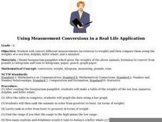 Using Measurement Conversions in a Real Life Application Lesson Plan