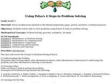Using Polya's 4 Steps to Problem Solving Lesson Plan