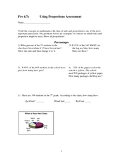 Using Proportions Worksheet