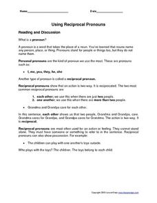 Using Reciprocal Pronouns Worksheet