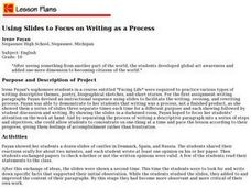 Using Slides to Focus on Writing as a Process Lesson Plan