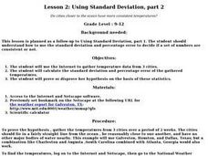 Using Standard Deviation, part 2 Lesson Plan