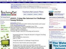 Using the Internet to Challenge Young Writers Lesson Plan