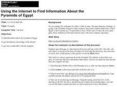 Using the Internet to Find Information About the Pyramids of Egypt Lesson Plan