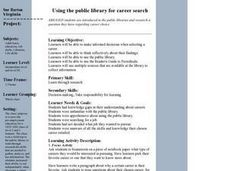 Using the Public Library for Career Search Lesson Plan