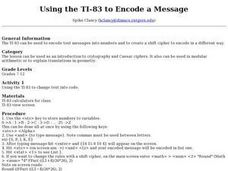 Using the TI-83 to Encode a Message Lesson Plan