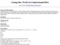 Using the TI-83 to Understand RSA Lesson Plan