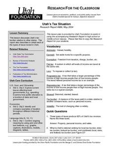 Utah's Tax Situation Lesson Plan