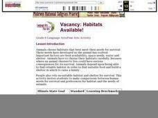 Vacancy: Habitats Available! Lesson Plan