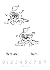 Valentine Bears Counting Worksheet