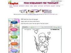 Valentine Cupid Drawing Worksheet