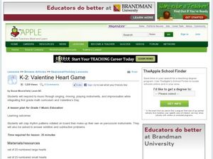 Valentine Heart Game Lesson Plan
