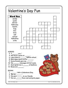 Valentine's Day Fun: Crossword Worksheet