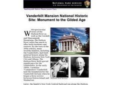 Vanderbilt Mansion National Historic Site: Monument to the Gilded Age (78) Lesson Plan