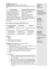 Variance and Standard Deviation Lesson Plan