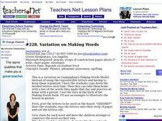Variation on Making Words Lesson Plan