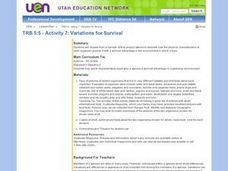 Variations for Survival Lesson Plan