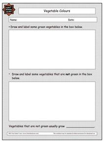 Vegetable Colors Worksheet