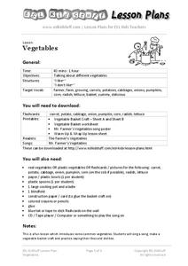 Vegetables Lesson Plan